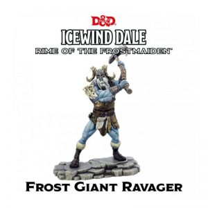 Gale Force Nine Dungeons & Dragons  D&D Miniatures D&D: Icewind Dale: Rime of the Frostmaiden - Frost Giant Ravager - GFN71115 - 9420020250888