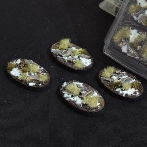 Gamers Grass   Battle-ready Winter Bases Winter Oval 60mm (x4) - GGB-WO60 -
