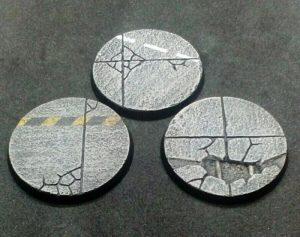 Baker Bases   Concrete Concrete: 50mm Round Bases (3) - CB-CN-01-50M -