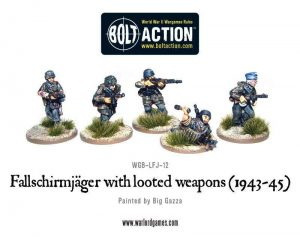 Warlord Games Bolt Action  Germany (BA) Fallschirmjager with looted Weapons - WGB-LFJ-12 - 5060200846445