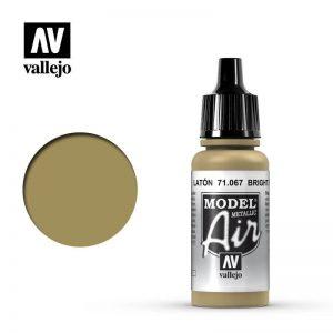 Vallejo   Model Air Model Air: Bright Brass Metallic - VAL067 - 8429551710671