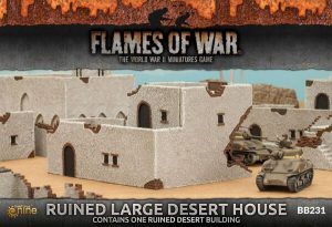 Gale Force Nine   Battlefield in a Box Flames of War: Ruined Large Desert House - BB231 - 9420020236974