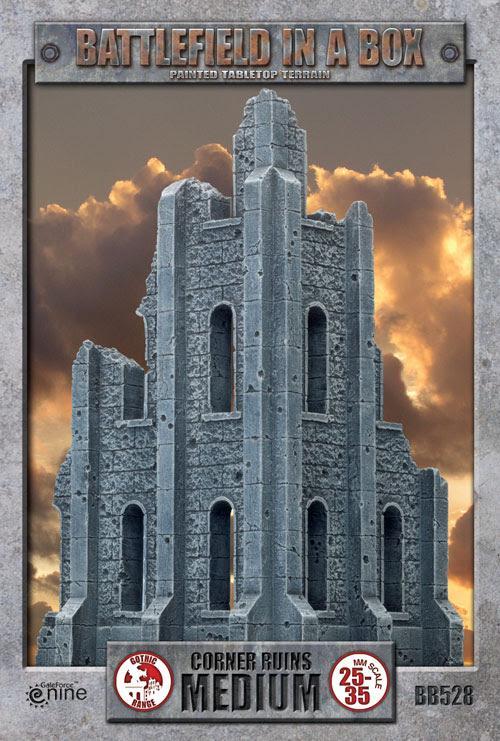 Gale Force Nine   Battlefield in a Box Battlefield in a Box: Medium Corner Ruins - BB528 - 9420020216570