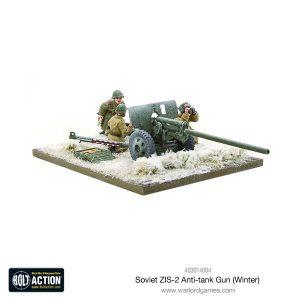 Warlord Games Bolt Action  Soviet Union (BA) Soviet ZIS-2 anti-tank Gun (Winter) - 403014004 - 5060393708261