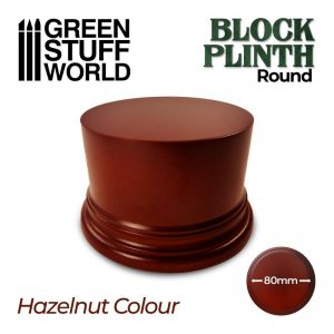 Green Stuff World   Display Plinths Round Block Plinth 8cm - Hazelnut - 8435646500607ES - 8435646500607