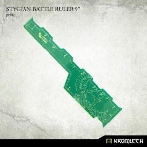 Kromlech   Tapes & Measuring Sticks Stygian Battle Ruler 9in [green] (1) - KRGA066 - 5902216116771