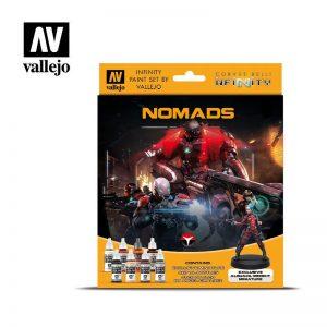 Vallejo   Model Colour AV Vallejo Model Color Set - Infinity Nomads Exclusive - VAL70233 - 8429551702331