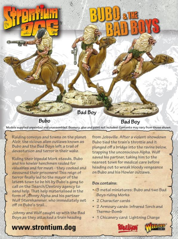Warlord Games Strontium Dog  Strontium Dog Strontium Dog: Bubo and the Bad Boys - 642215004 - 5060572500891
