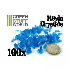 Green Stuff World   Green Stuff World Conversion Parts BLUE Resin Crystals (small) - 8436554362820ES - 8436554362820