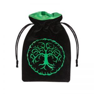 Q-Workshop   Dice Accessories Forest Black & green Velour Dice Bag - BFOR121 - 5907699493272