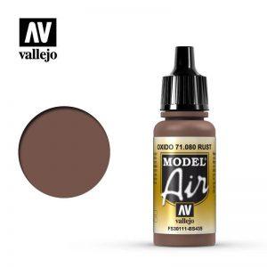 Vallejo   Model Air Model Air: Rust - VAL080 - 8429551710800