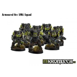 Kromlech   Orc Model Kits Armoured Orc SMG Squad (10) - KRM028 - 5902216111530