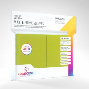 Gamegenic   SALE! Gamegenic Matte Prime Sleeves Lime (100 pack) - GGS11034ML - 4251715402511