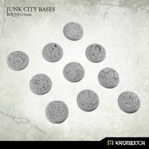 Kromlech   Junk City Bases Junk City round 25mm (10) - KRRB038 - 5902216113497
