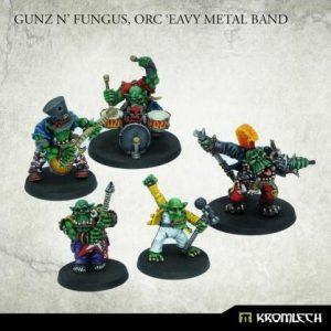 Kromlech   Orc Model Kits Gunz 'N' Fungus, Orc 'Eavy Metal Band (5) - KRM151 - 5902216119208
