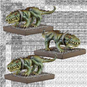 Mantic Kings of War  Ogres Ogre Crocodogs - MGKWH201 - 5060469665849
