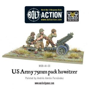 Warlord Games Bolt Action  United States of America (BA) US Army 75mm Howitzer - WGB-AI-33 - 5060200844922