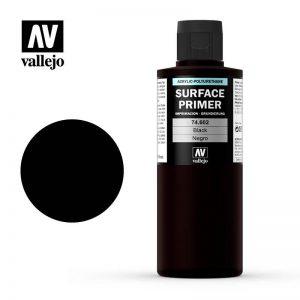 Vallejo   Model Air Primers Primer: Black 200ml - VAL74602 - 8429551746021