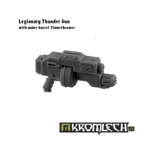Kromlech   Legionary Conversion Parts Legionary Thunder Gun with flamethrower (5) - KRCB121 - 5902216112650