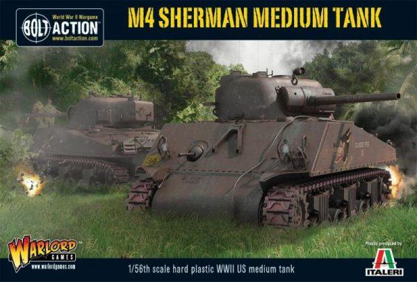 Warlord Games Bolt Action  United States of America (BA) M4 Sherman Medium Tank (plastic) - 402013006 - 5060200849781