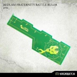 Kromlech   Tapes & Measuring Sticks Bedlam Fraternity Battle Ruler [green] (1) - KRGA036 - 5902216114319