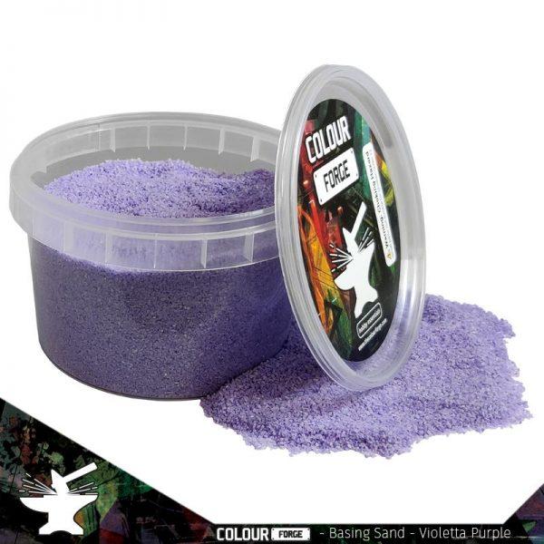 The Colour Forge   Sand & Flock Basing Sand - Violetta Purple (275ml) - TCF-BAS-005 - 5060843100782