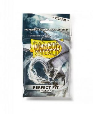 Dragon Shield   Dragon Shield Dragon Shield Sleeves Perfect Fit Clear Card Sleeves (100) - DSPF100CL - 5706569130015