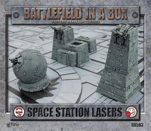 Gale Force Nine   Battlefield in a Box Galactic Warzones: Space Station Lasers - BB563 - 9420020224537