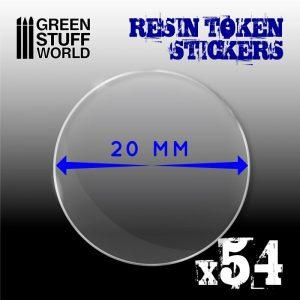 Green Stuff World   Infinity Tokens 54x Resin Token Stickers 20mm - 8436574503937ES - 8436574503937