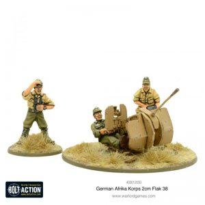 Warlord Games Bolt Action  Germany (BA) Afrika Korps 2cm Flak 38 - 403012030 - 5060572502444