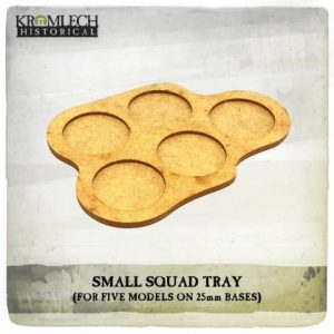 Kromlech   Movement Trays Small Squad Tray (for 5 models on 25mm round bases) 3x - KHBAS012 - 5902216118331