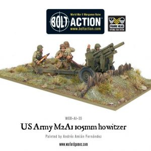 Warlord Games Bolt Action  United States of America (BA) US Army M2A1 105mm Howitzer - WGB-AI-35 - 5060200845028