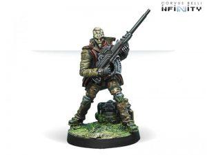 Corvus Belli Infinity  Non-Aligned Armies - NA2 Armand Le Muet, Freelance Killer (MULTI Sniper Rifle) - 280720-0570 - 2807200005709