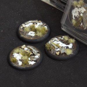 Gamers Grass   Battle-ready Winter Bases Winter RoundLip 50mm (x3) - GGB-WLR50 -