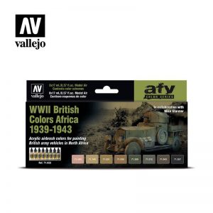 Vallejo   Model Air AV Model Air Set - WWII British Colors Africa 1939-43 - VAL71622 - 8429551716222