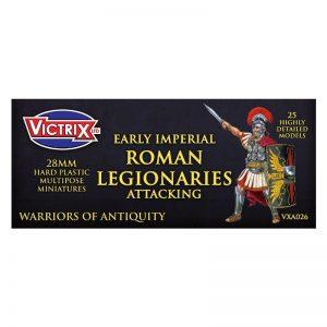 Victrix   Victrix Early Imperial Roman Legionaries Attacking - VXA026 -