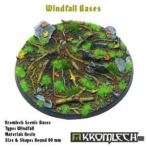 Kromlech   Windfall Bases Windfall round 80mm (1) - KRRB035 -