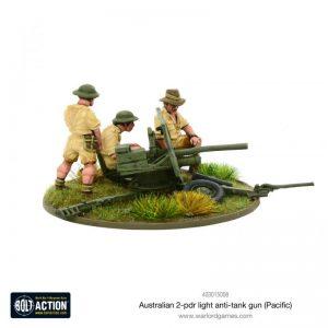Warlord Games Bolt Action  Australia (BA) Australian 2-pdr Light Anti-tank Gun - 403015008 - 5060572500693