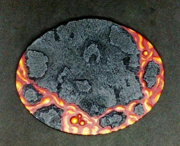 Baker Bases   Lava Lava: 120x92mm Oval Base (1) - CB-LV-01-OVL - CB-LV-01-OVL