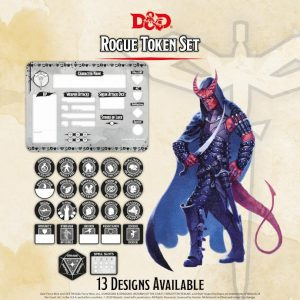 Gale Force Nine Dungeons & Dragons  D&D Extras D&D: Rogue Token Set (Player Board & 23 tokens) - GFN72512 - 9420020251182