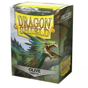 Dragon Shield   Dragon Shield Dragon Shield Sleeves Matte Olive (100) - DS100MOV - 5706569110406