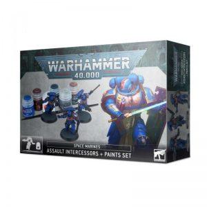 Games Workshop Warhammer 40,000  Paint Sets Assault Intercessors + Paint Set - 99170101012 - 5011921144655