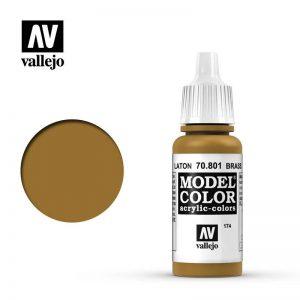 Vallejo   Model Colour Model Color: Metallic Brass - VAL801 - 8429551708012
