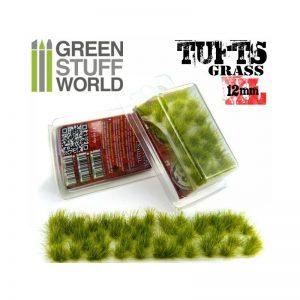 Green Stuff World   Tufts Grass TUFTS XL - 12mm self-adhesive - REALISTIC GREEN - 8436554363506ES - 8436554363506