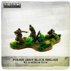 Kromlech   Kromlech Historical Polish Army Black Brigade wz. 31 mortar team (mortar and 3 crew) - KHWW2035 - 5902216119116