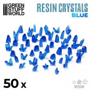 Green Stuff World   Green Stuff World Conversion Parts BLUE Resin Crystals - Medium - 8436574508871ES - 8436574508871