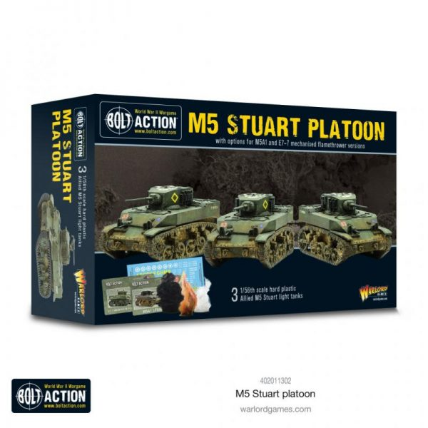 Warlord Games Bolt Action  United States of America (BA) M5 Stuart Platoon - 402011302 - 5060572506916