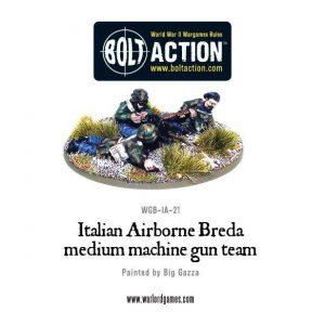 Warlord Games Bolt Action  Italy (BA) Italian Airborne Breda Medium Machine Gun Team - WGB-IA-21 - 5060200848852