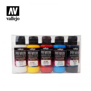 Vallejo   Premium Airbrush Colour AV Vallejo Premium Color - 60ml Set Opaque (5x60ml) - VAL62101 - 8429551621014