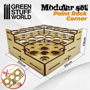 Green Stuff World   Paint Racks Modular Paint Rack - STRAIGHT CORNER - 8436574503463ES - 8436574503463